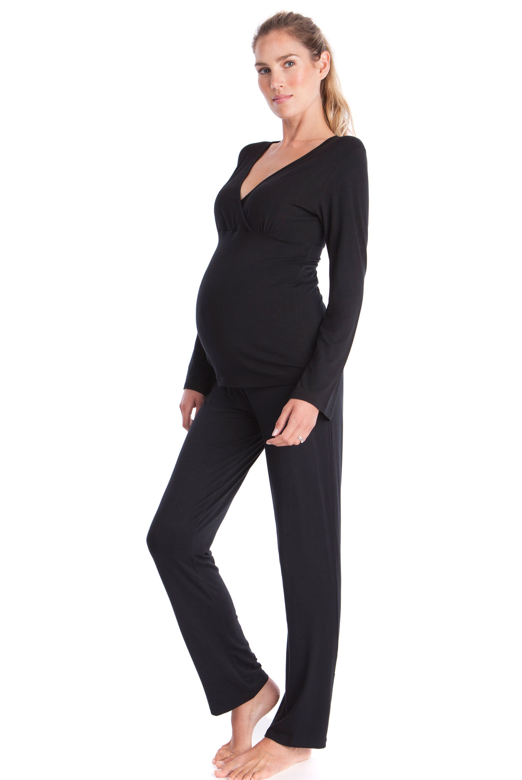 Seraphine Camille Bamboo Lounge Maternity Pajamas