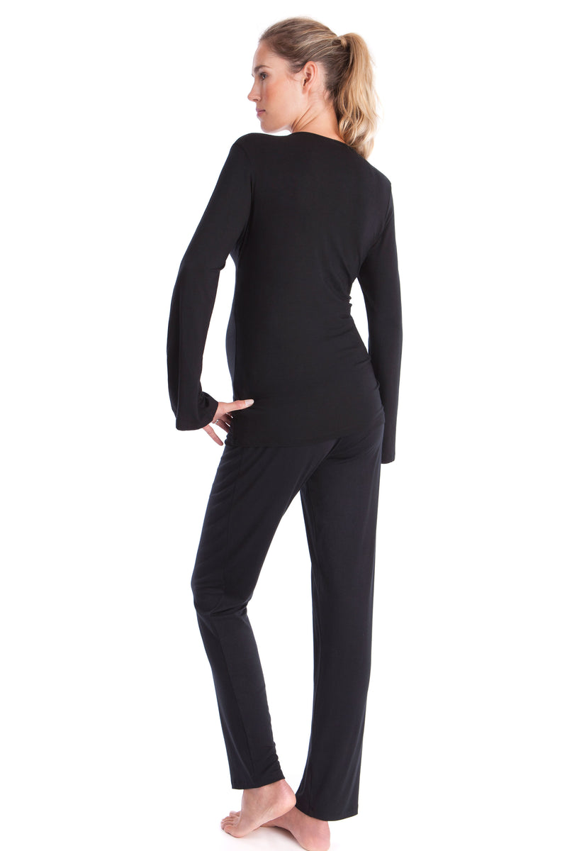Seraphine Camille Bamboo Lounge Maternity Pajamas - Seven Women Maternity