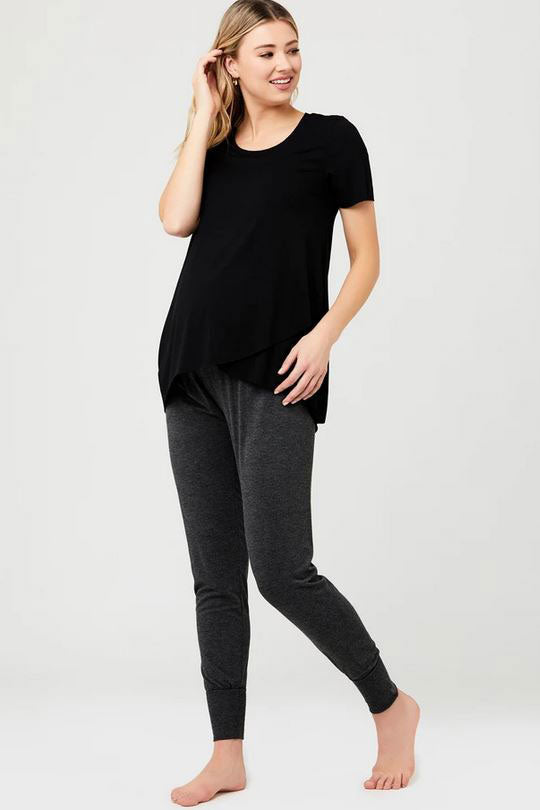 Black Jersey Lounge Jogger by Ripe