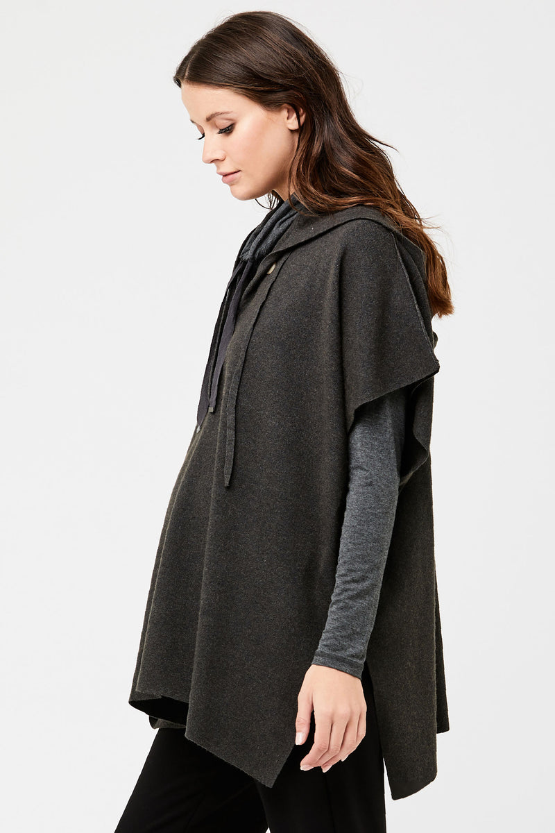 Cleo Knit Maternity Poncho by Ripe