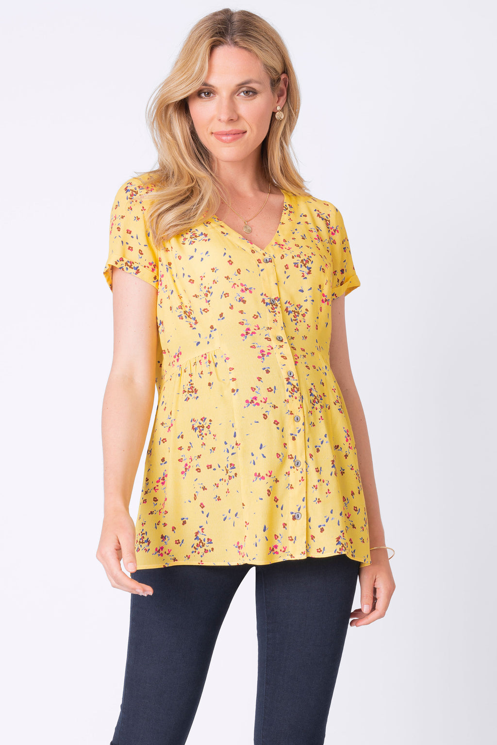 Seraphine Emerly Floral Print Maternity & Nursing Blouse - Seven Women Maternity