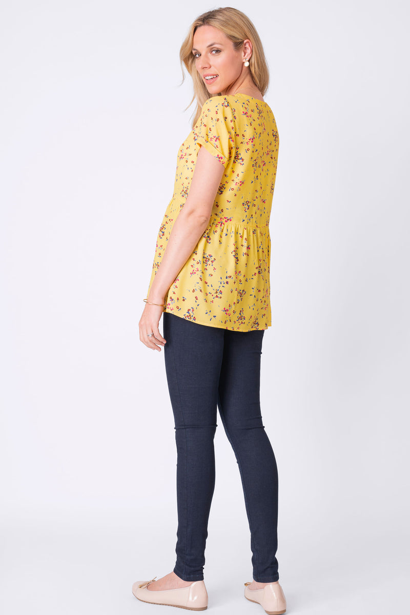 Seraphine Emerly Floral Print Maternity & Nursing Blouse