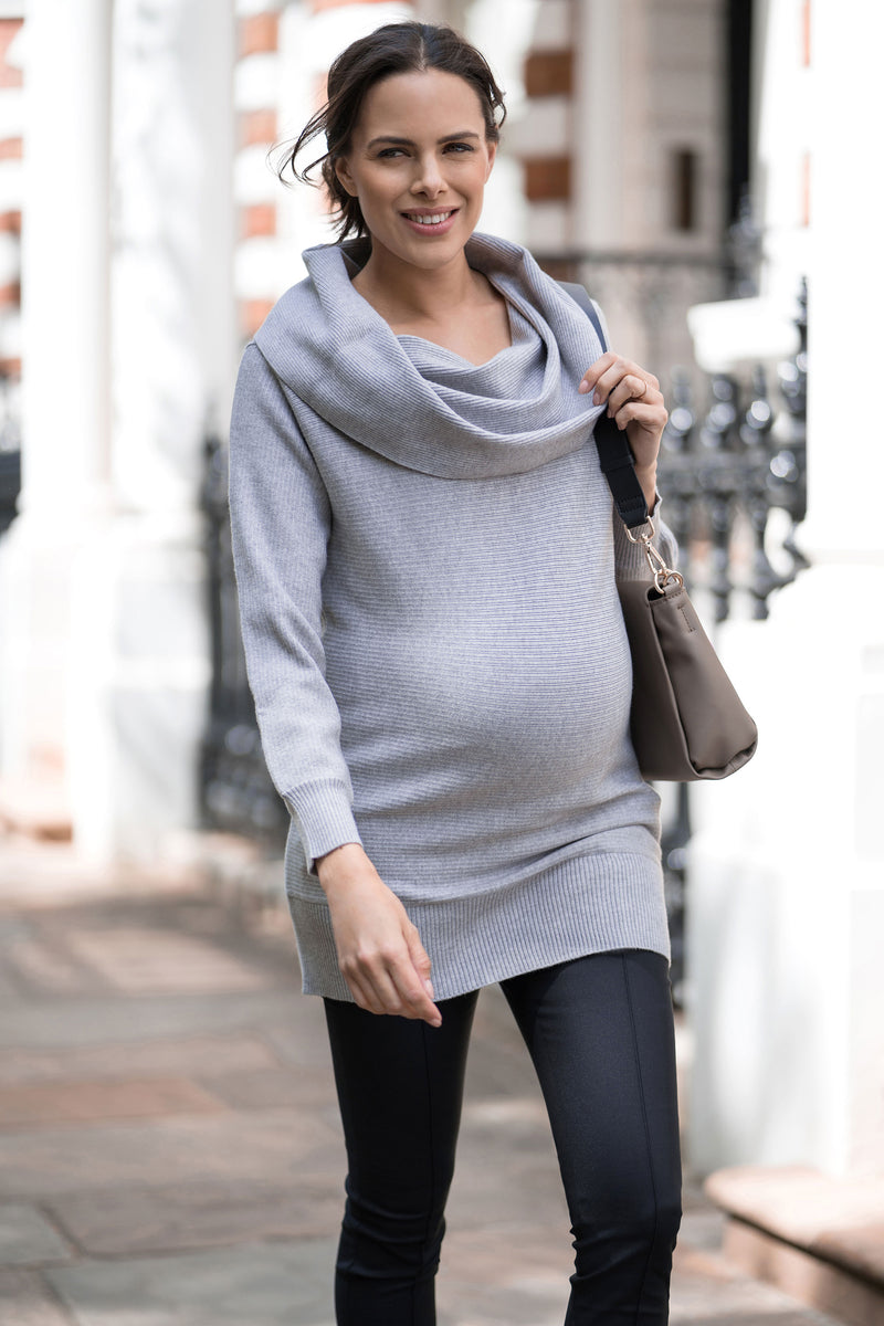 Seraphine Fantine Cowl Neck Maternity Sweater - Seven Women Maternity