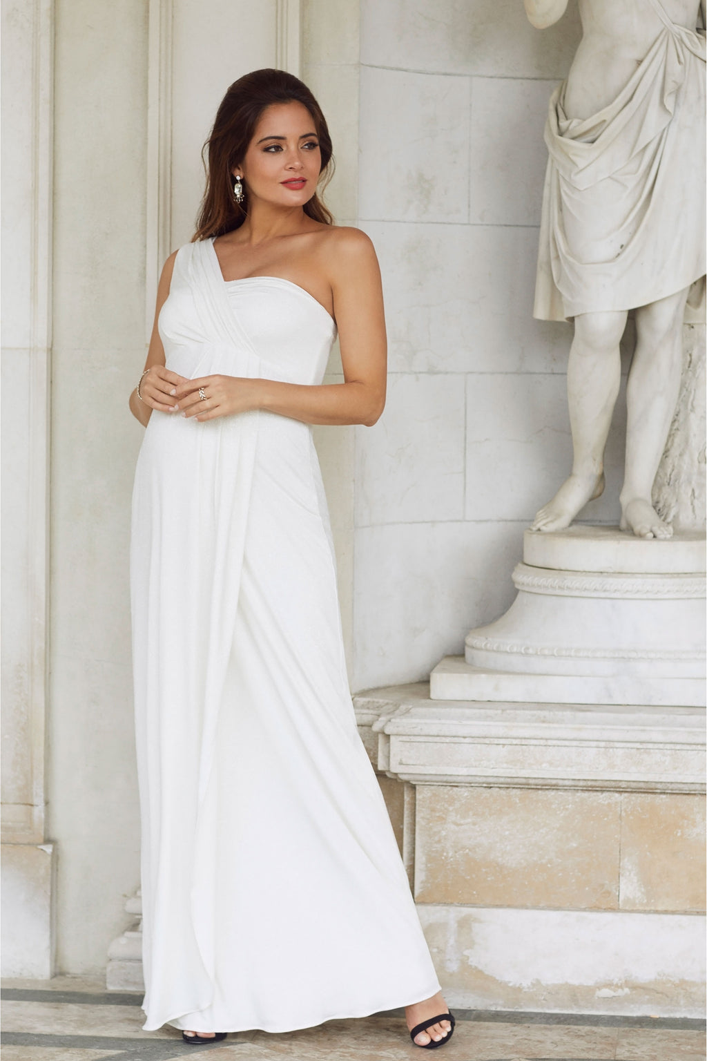 Tiffany Rose Maternity Galaxy Gown In Ivory