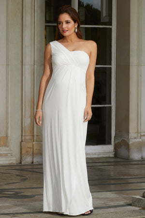 Tiffany Rose Maternity Galaxy Gown In Ivory - Seven Women Maternity
