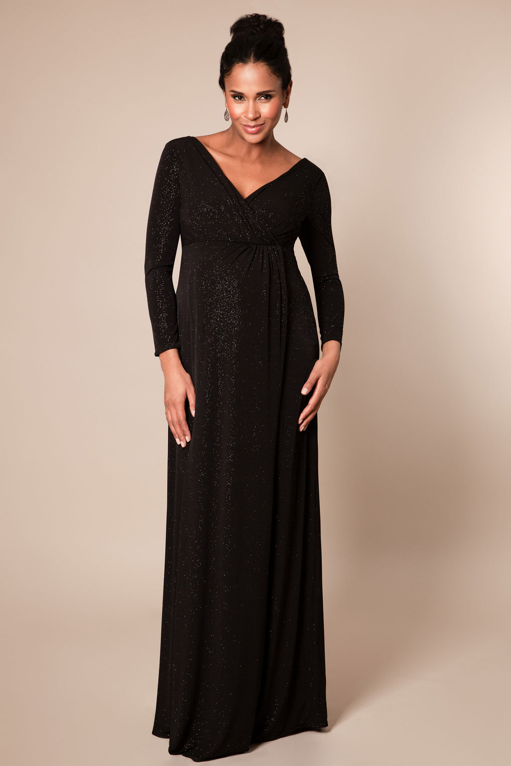 Tiffany Rose Isabella Maternity & Nursing Gown in Caviar - Seven Women Maternity