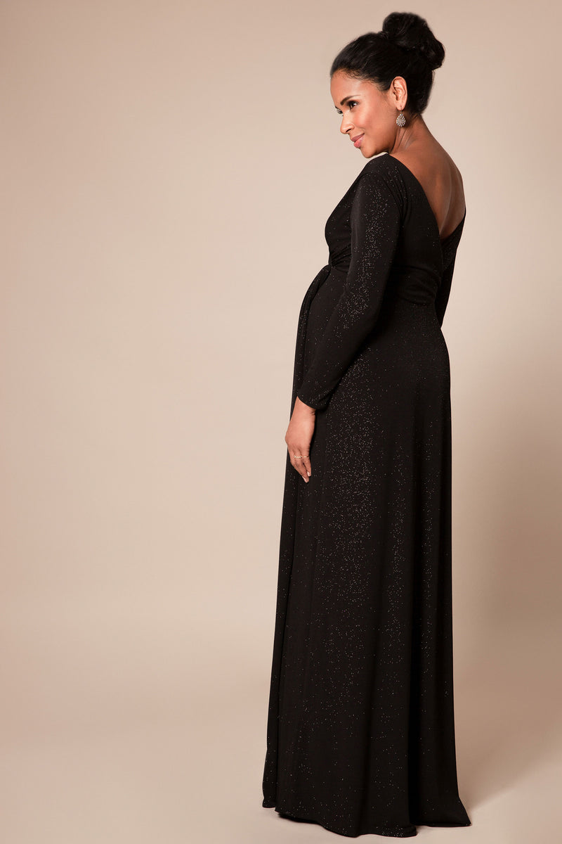 Tiffany Rose Isabella Maternity & Nursing Gown in Caviar