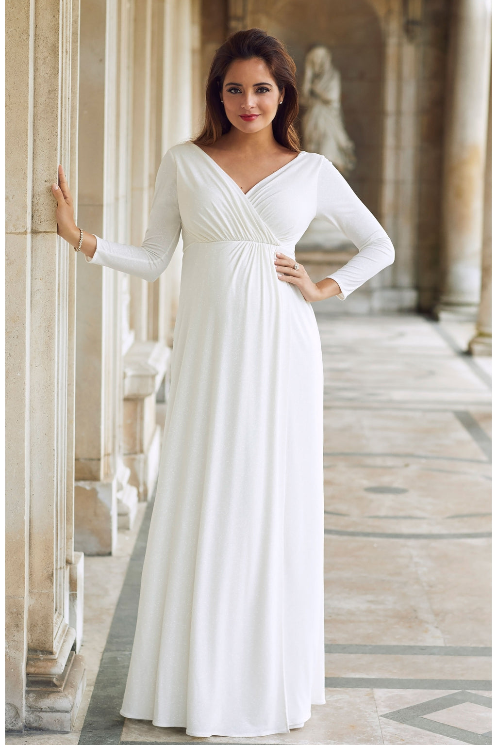 Tiffany Rose Isabella  Bridal Maternity & Nursing Gown in Ivory - Seven Women Maternity