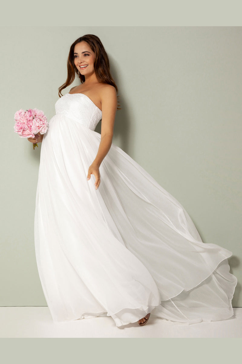 Tiffany Rose Julia Maternity Bridal Gown - Seven Women Maternity