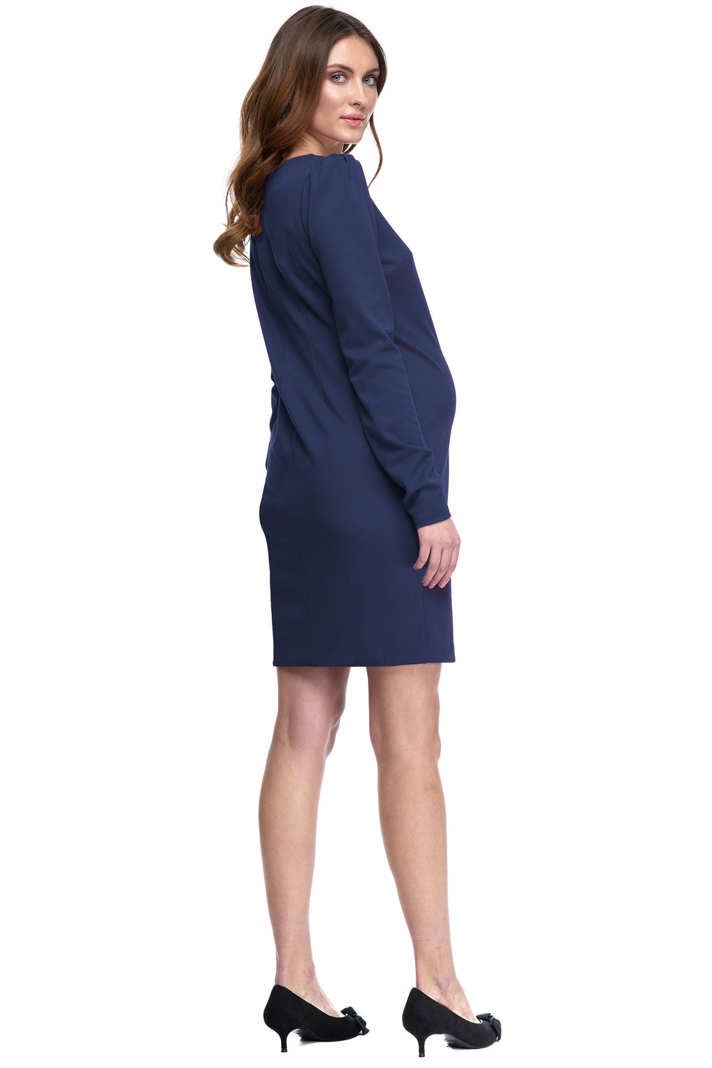 Reese Navy Maternity Shift Dress by Pietro Brunelli - Seven Women Maternity