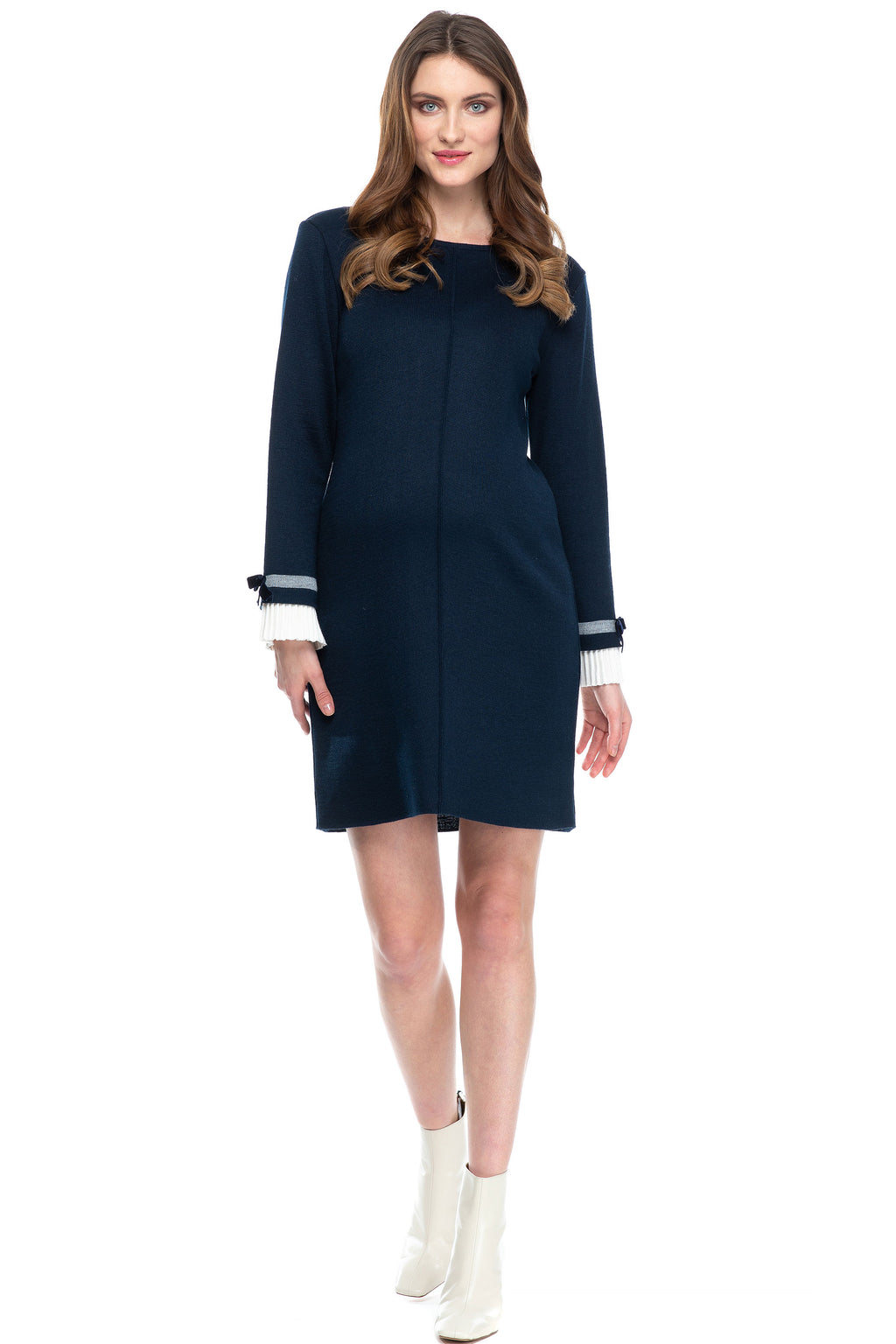 Pietro Brunelli Mansfield  Navy Sweater Maternity Dress
