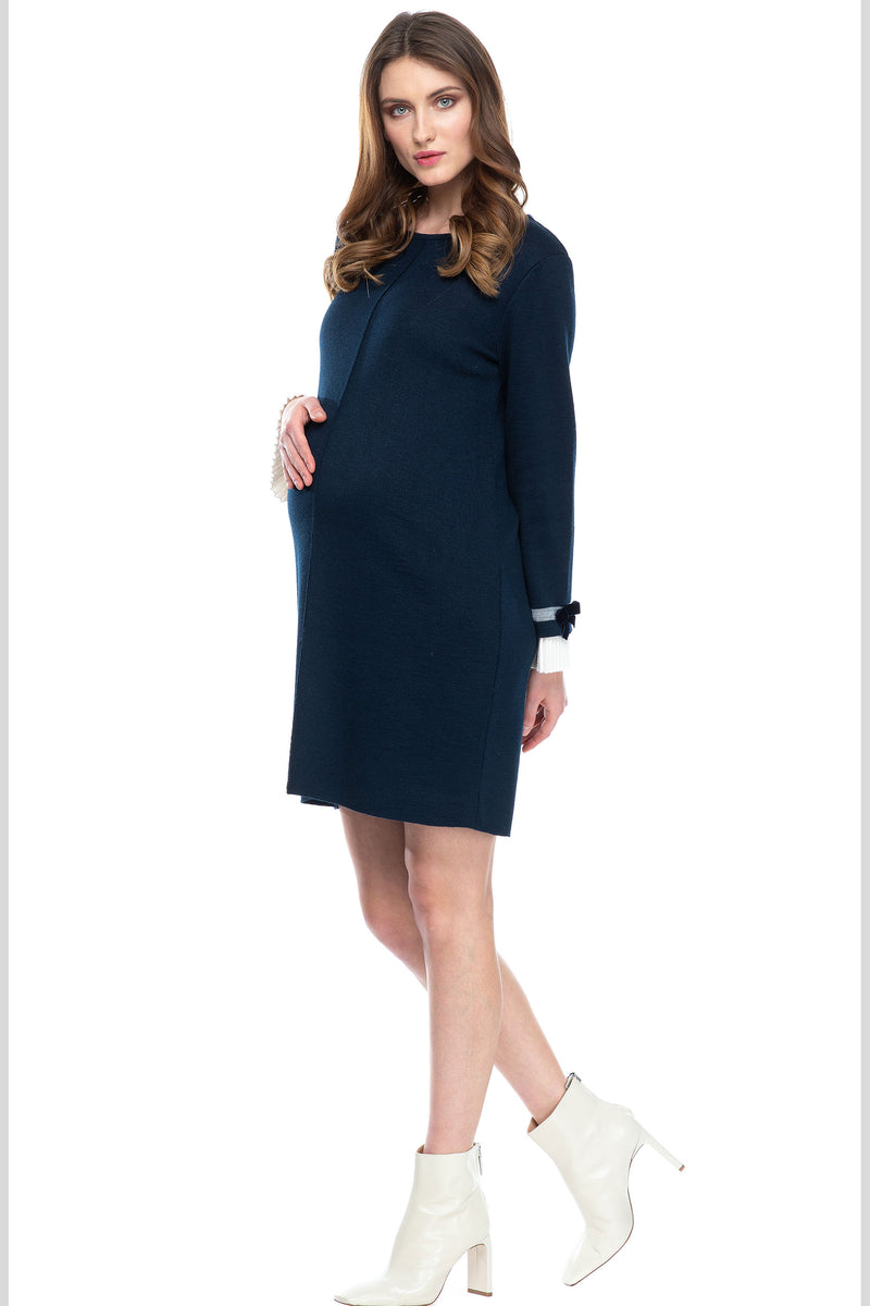 Pietro Brunelli Mansfield  Navy Sweater Maternity Dress - Seven Women Maternity