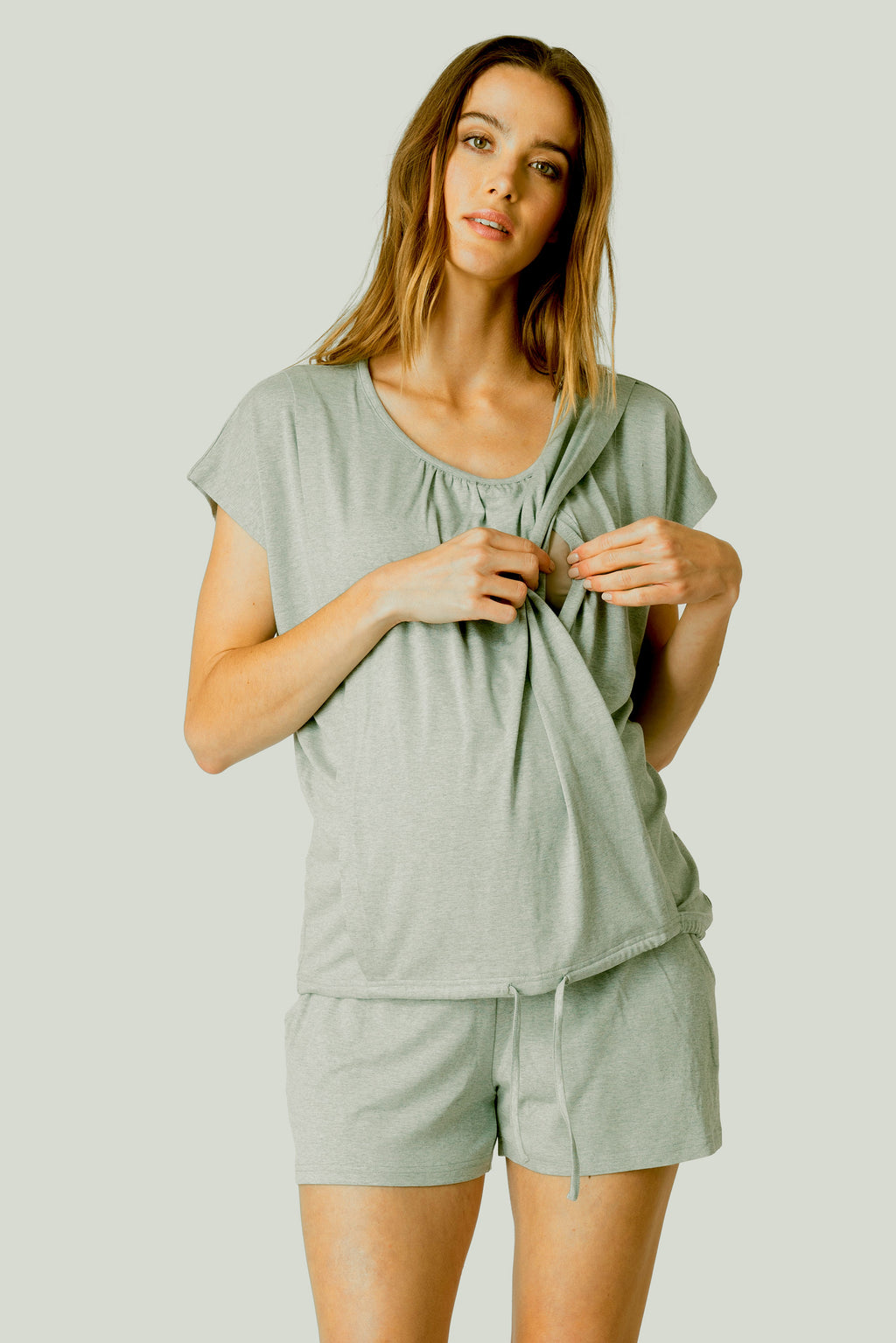 Margaret Ultra-Soft Maternity & Nursing Short Pajamas Seraphine