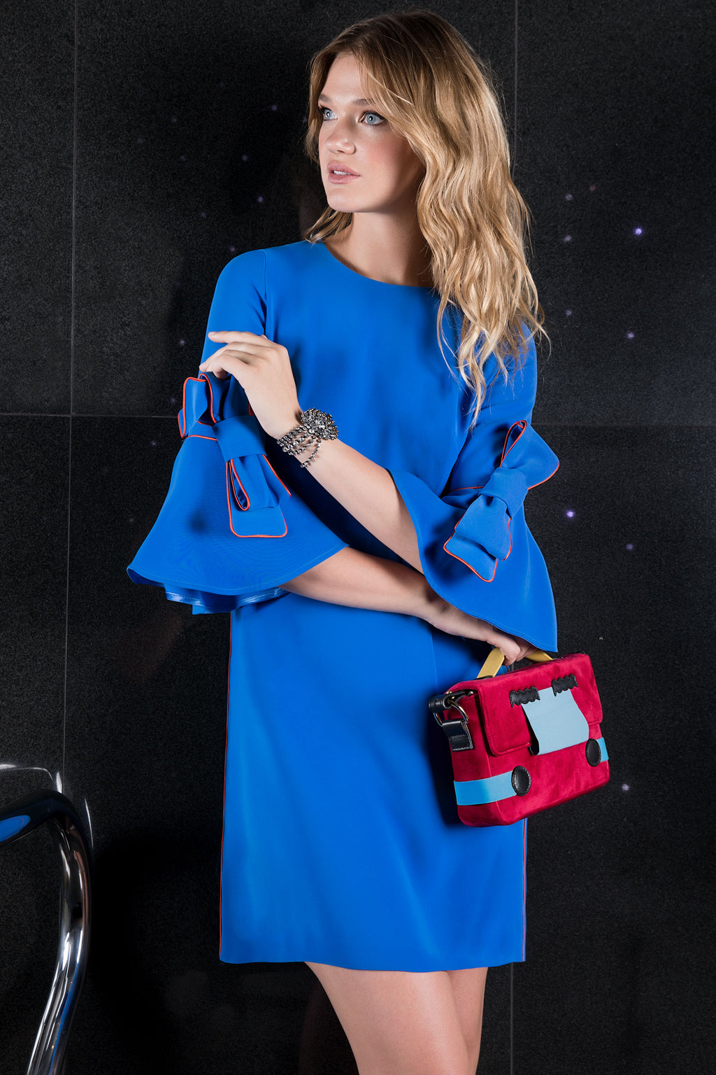 The Marlene Maternity Shift Dress Blue