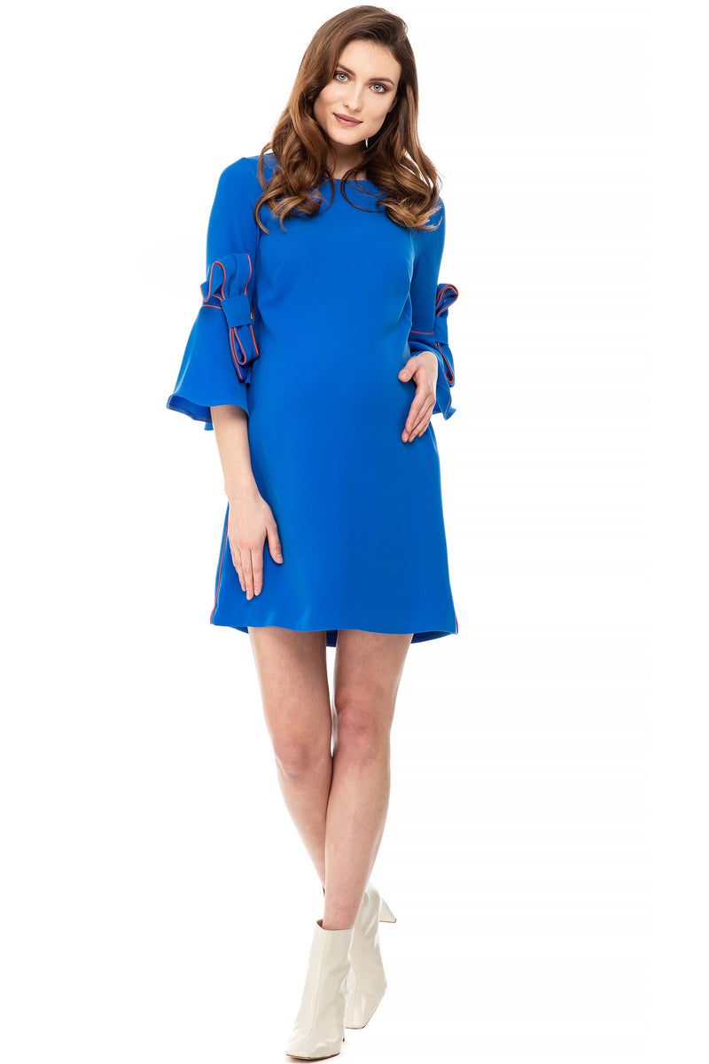 The Marlene Maternity Shift Dress Blue - Seven Women Maternity