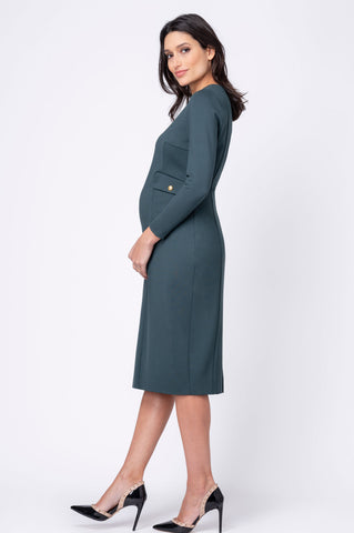 Reese Navy Maternity Shift Dress by Pietro Brunelli