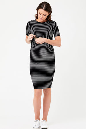 Mia Short Sleeve Maternity Nursing Dress Ripe - Seven Women Maternity