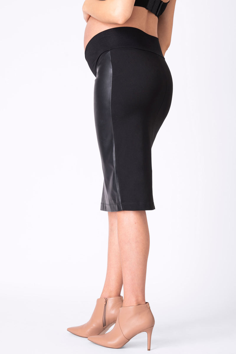 Seraphine Faux Leather Maternity Skirt - Seven Women Maternity