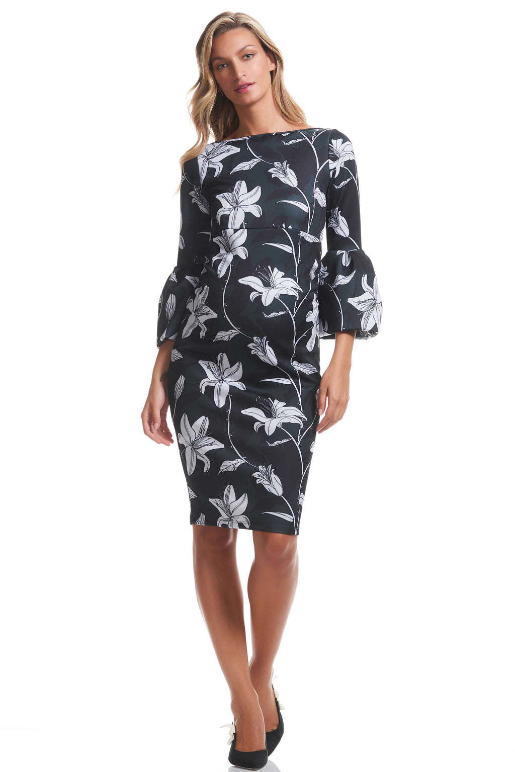 Myra Maternity Dress in Winter Floral