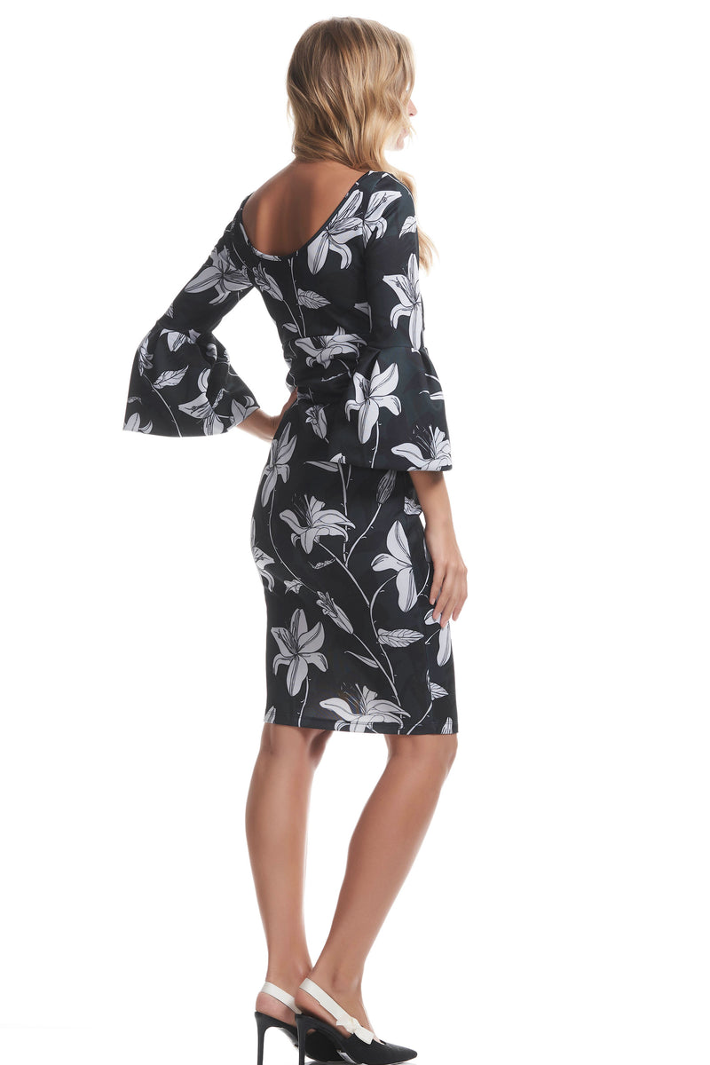 Myra Maternity Dress in Vert Floral - Seven Women Maternity