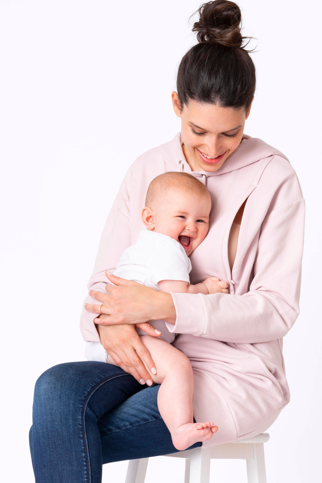 Pernella Blush Maternity & Nursing Hoodie by Seraphine