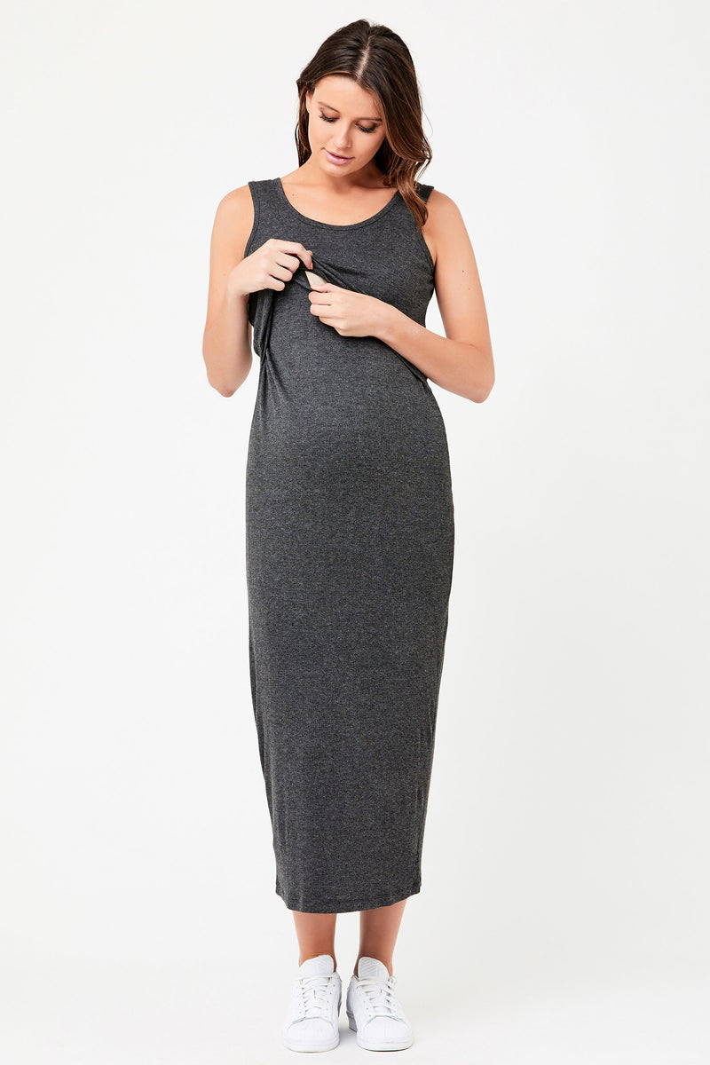 Rabina Crop Top Maternity & Nursing Maxi Ripe - Seven Women Maternity