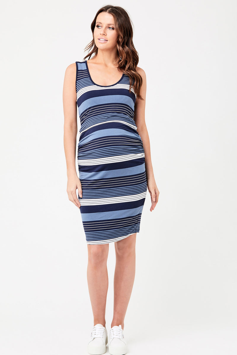 Georgie Stripe Maternity Nursing Dress Ripe - Seven Women Maternity