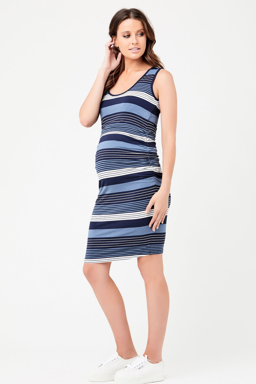 Ripe Georgie Stripe Maternity Nursing Dress - Seven Women Maternity