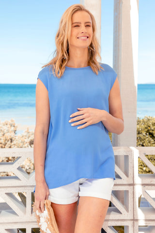 Isabella Oliver Mari Maternity Off-Shoulder Top in Caviar