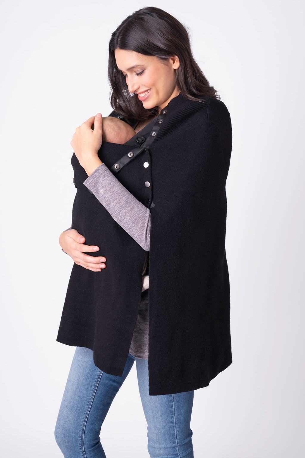 Seraphine Romana Knitted Maternity and Nursing Cape - Seven Women Maternity