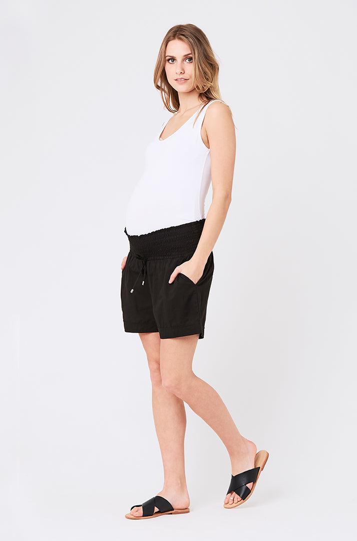 Ripe Ultra Light Black Maternity Shorts - Seven Women Maternity
