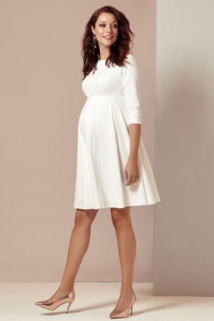 Tiffany Rose Sienna Maternity Dress in Ivory - Seven Women Maternity