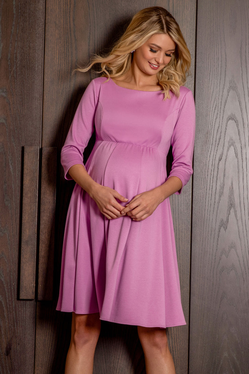 Sienna Maternity Dress in Pink by Tiffany Rose
