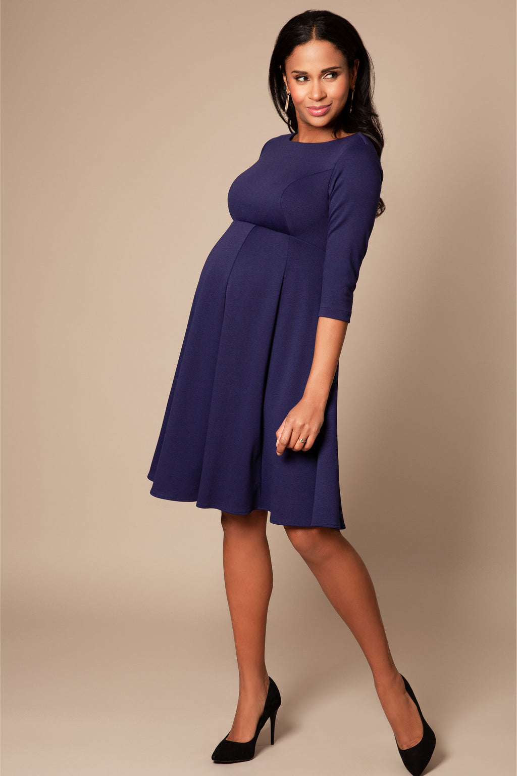 Tiffany Rose Sienna Maternity Dress in Persian Blue - Seven Women Maternity