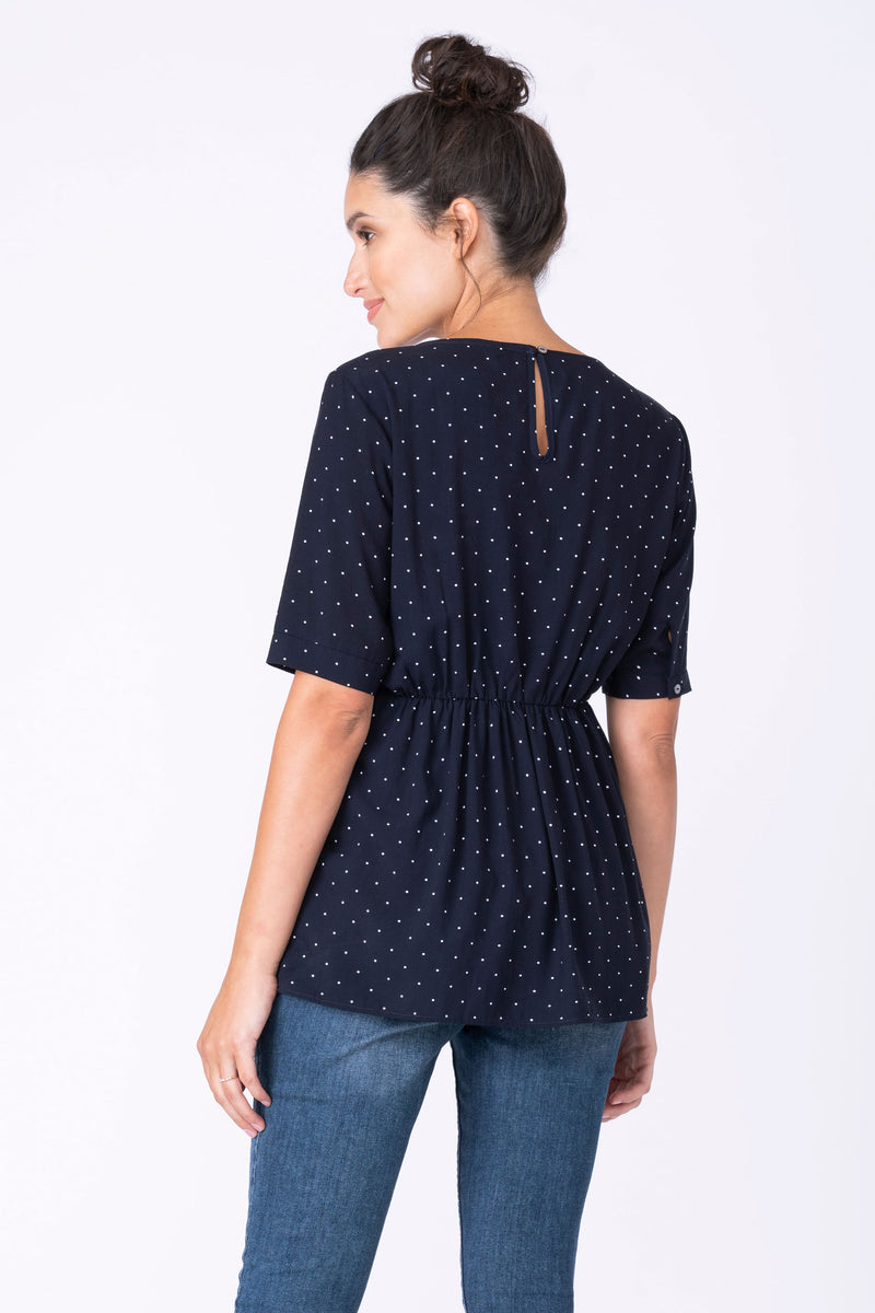 Salema Navy Blue Dot Maternity & Nursing Top Seraphine