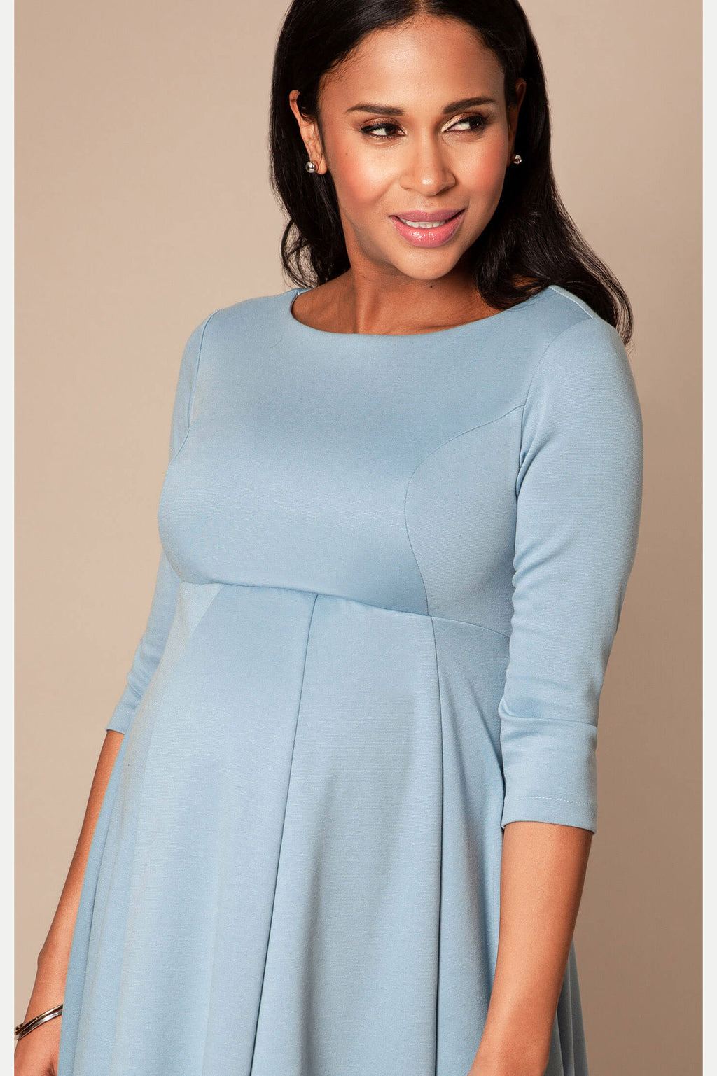 Sienna Maternity Dress in Cashmere Blue by Tiffany Rose