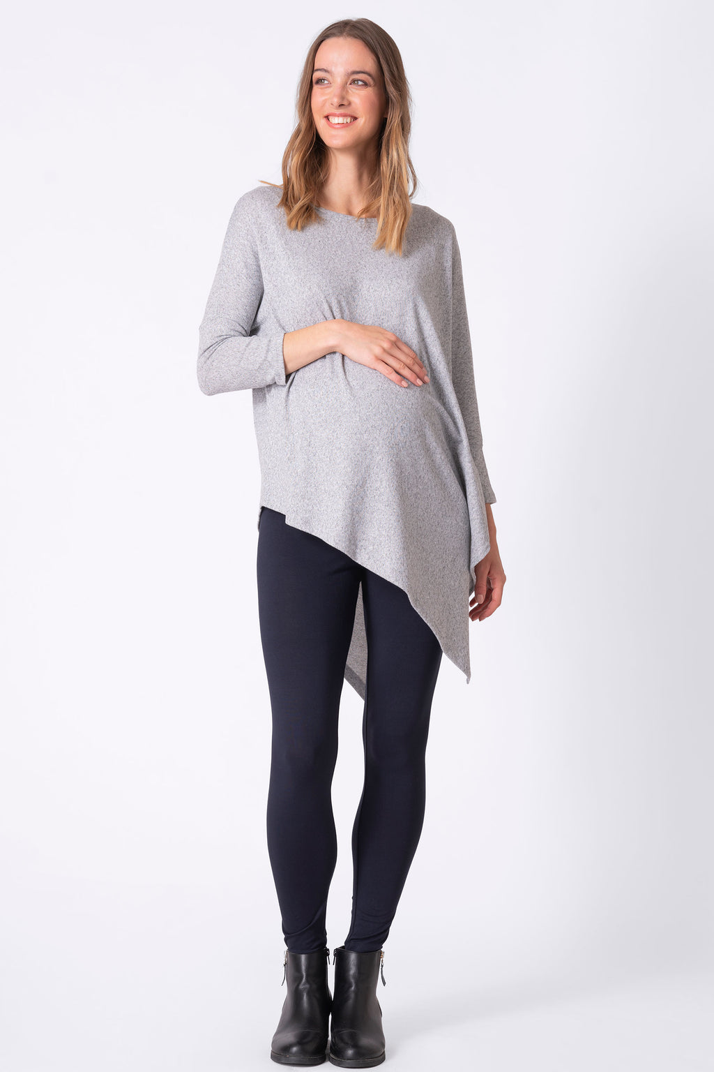 Skyla Ultra-Soft Asymmetric Maternity Poncho by Seraphine
