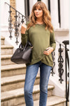 Sybil Grey Marl Crossover Maternity & Nursing Sweater