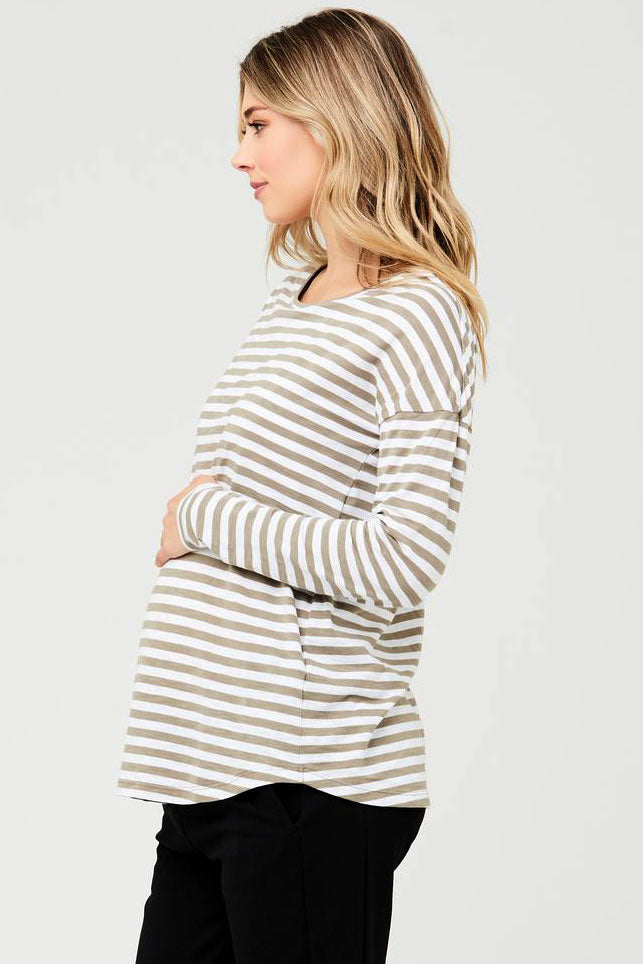 Copy of Lionel Long Sleeve Maternity Nursing Top Olive Ripe