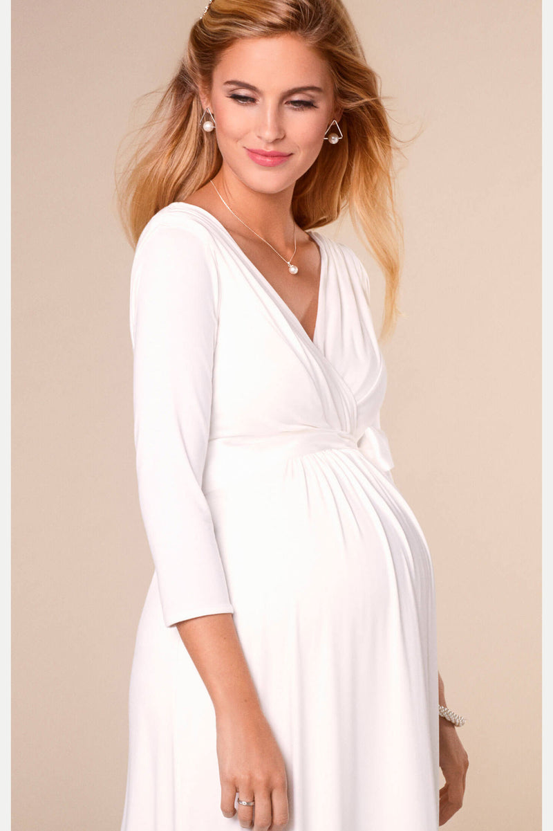 Willow Maternity & Nursing Gown in Ivory - Seven Women Maternity
