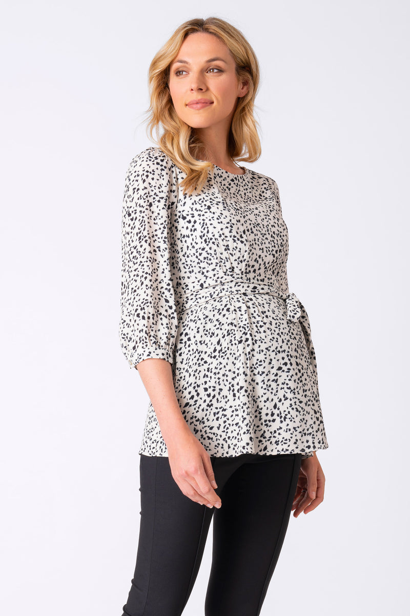 Seraphine Winnie Printed Belted Maternity Blouse - Seven Women Maternity