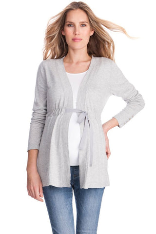 Seraphine Antonella Pink Gray & Blush Maternity Nursing Sweater