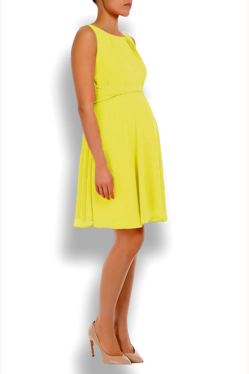Pietro Brunelli  Isabella Chiffon Maternity Dress In Summer Yellow