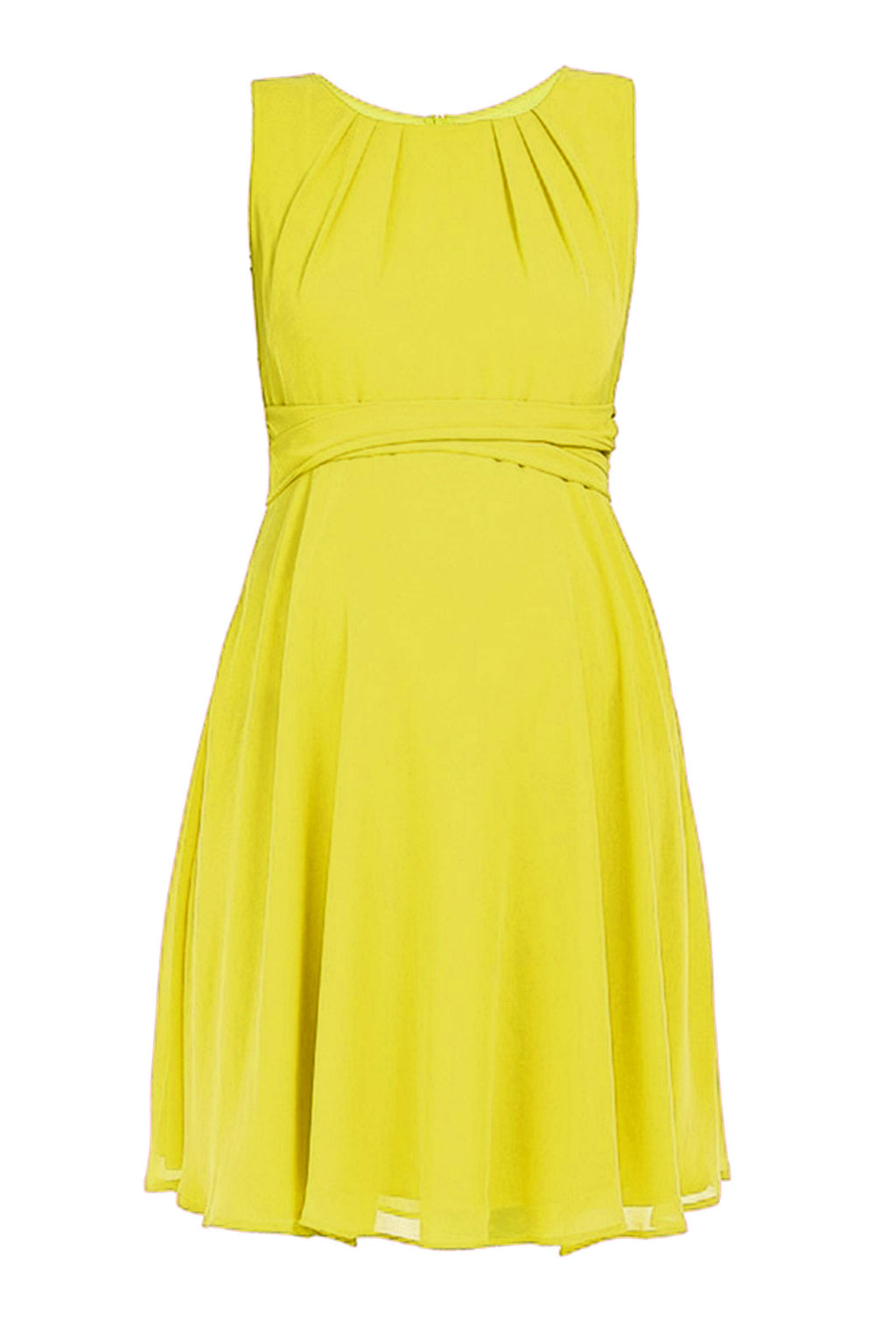 Pietro Brunelli  Isabella Chiffon Maternity Dress In Summer Yellow - Seven Women Maternity