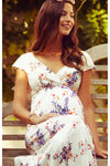 Tiffany Rose Alana Maxi Maternity and Nursing Dress in Japanese Garden - Seven Women Maternity