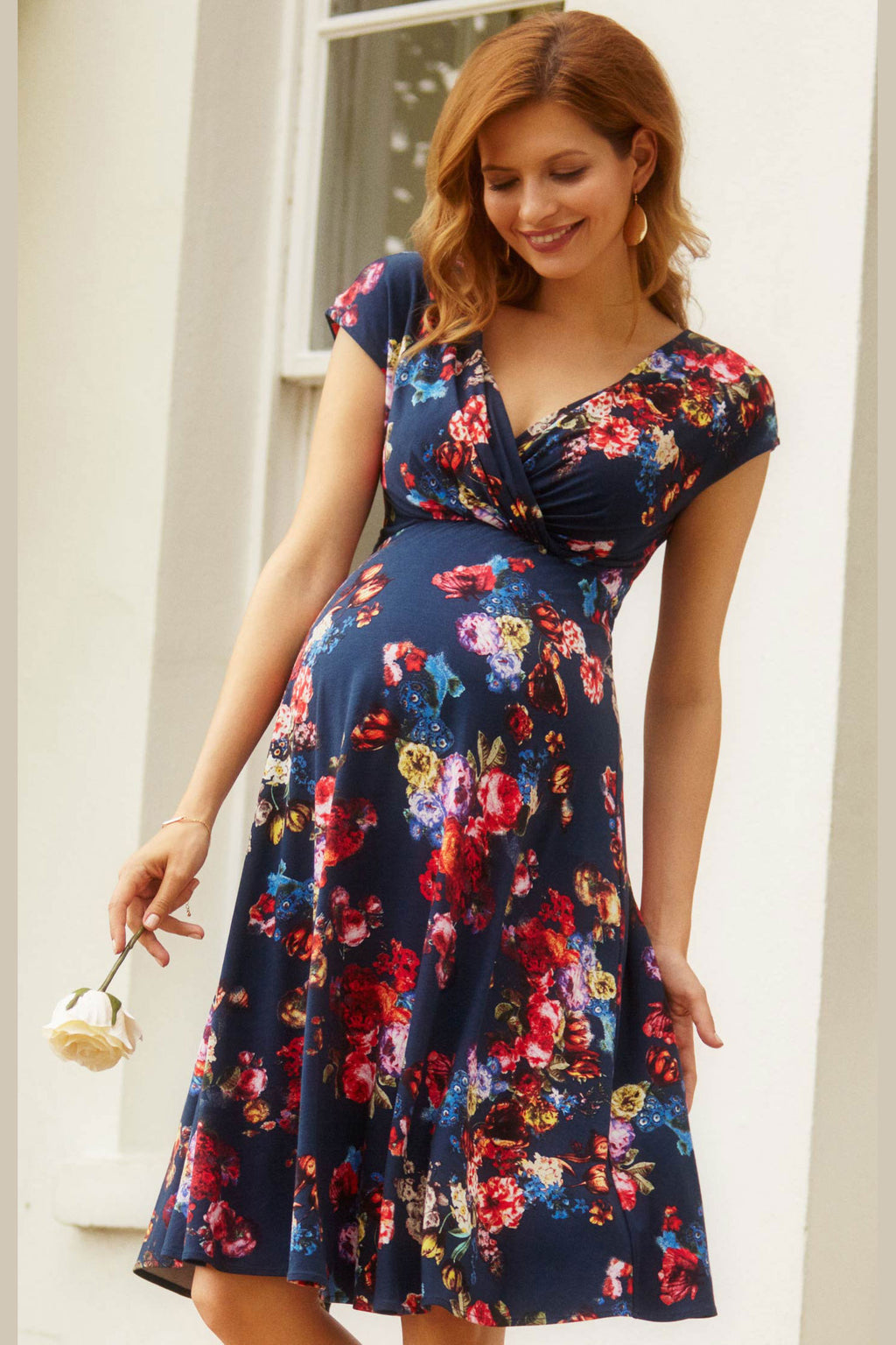 Tiffany Rose Alessandra Maternity Dress in Midnight Garden - Seven Women Maternity