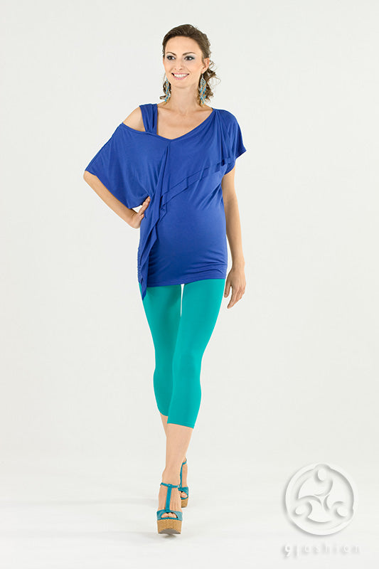 Andrea Maternity Top 9Fashion Cornflower Blue - Seven Women Maternity