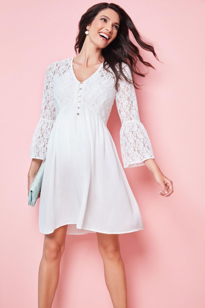 Seraphine Angelico Boho Lace Detail Maternity Nursing Dress - Seven Women Maternity