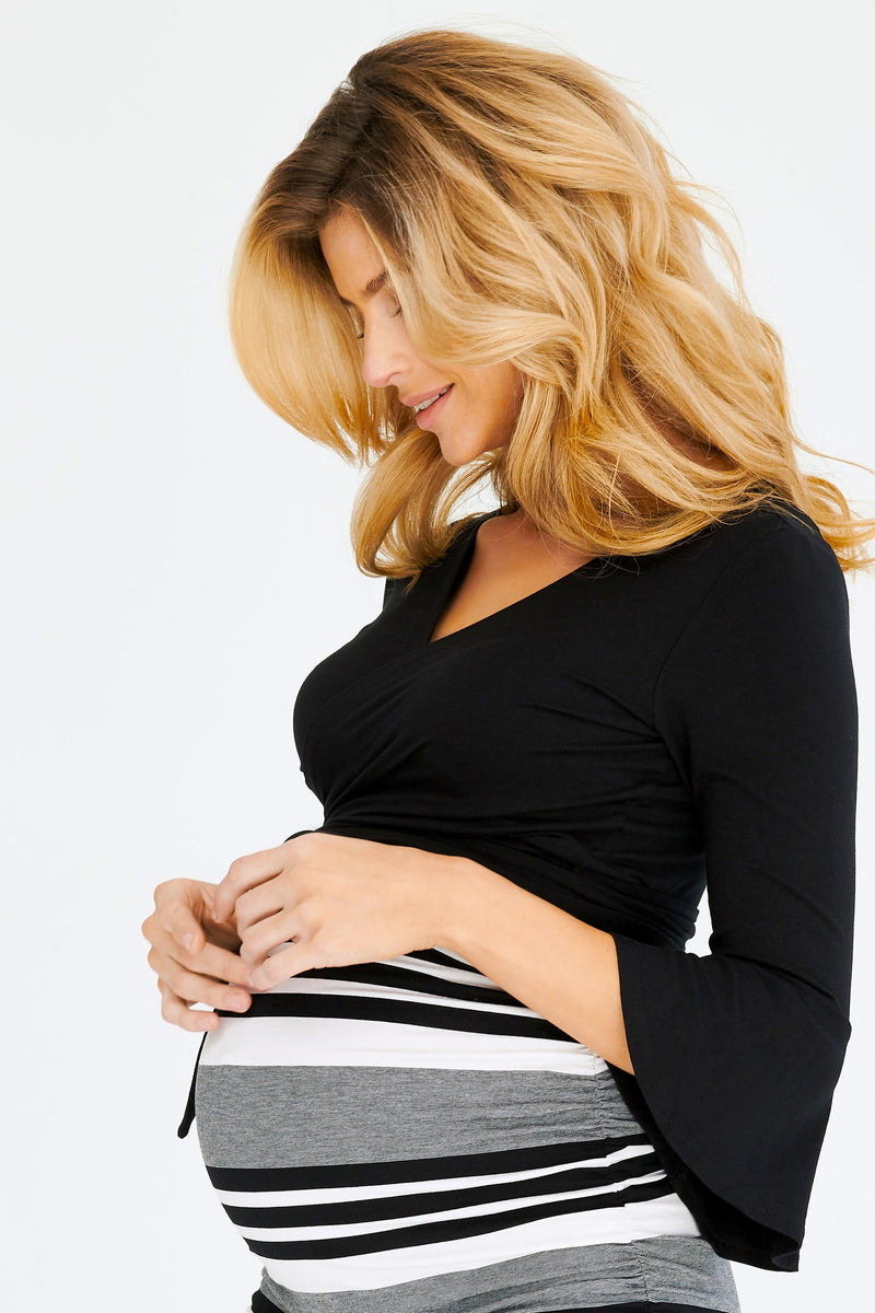 Crop Ballet Maternity Wrap - Seven Women Maternity