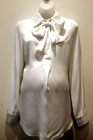 The Georgie Chiffon Maternity Blouse in White